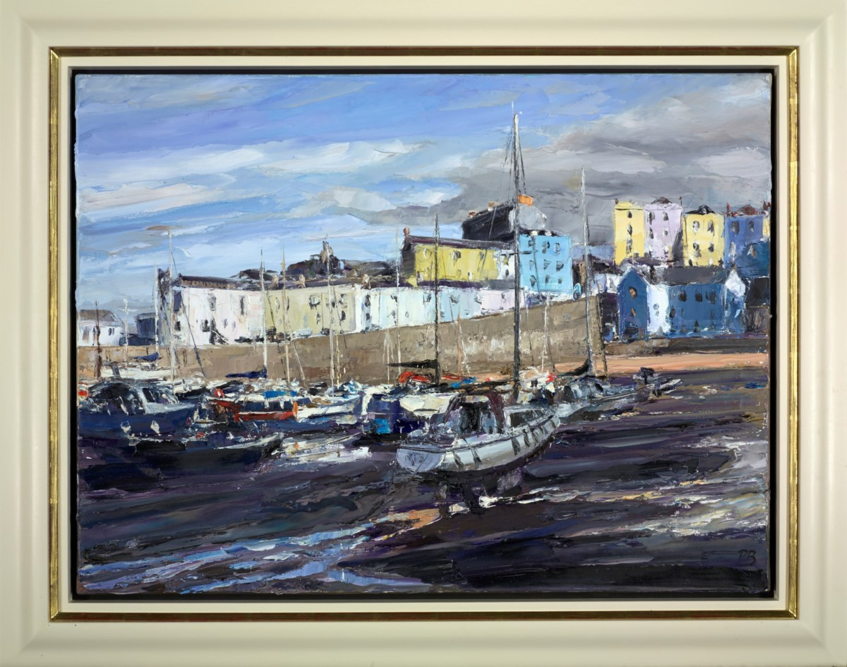 Evening in Tenby by david porteous butler -  sized 32x24 inches. Available from Whitewall Galleries